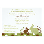 """Sweet Baby Bunny Forest Baby Shower Invitations 5"""" X 7"""" Invitation Card"""