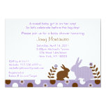 Sweet Baby Bunny Lavender Baby Shower Invitations