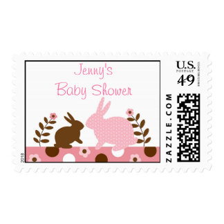 Sweet Baby Bunny Pink Postage Stamps