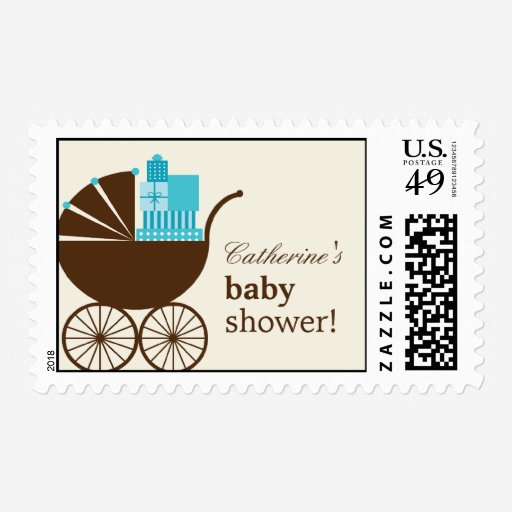 Custom Baby carriage baby shower Stamps Templates   Babyfavors4u