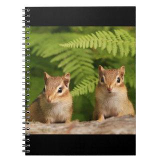 Sweet Baby Chipmunk Siblings Spiral Notebook
