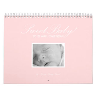 Sweet Baby Custom Wall Calendar - Pink Wall Calendars