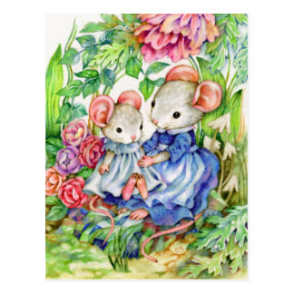 Sweet Baby - Cute Mouse Art Postcard
