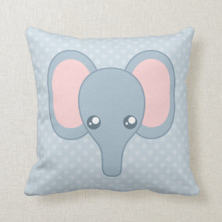 Sweet Baby Elephant Face Throw Pillow