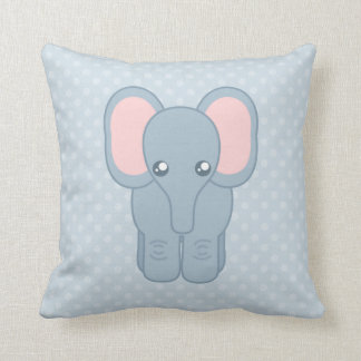 Sweet Baby Elephant Throw Pillow