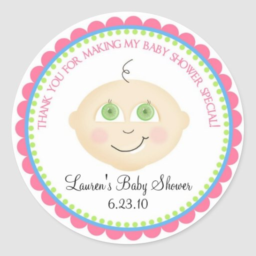 Sweet Baby Face Shower Stickers