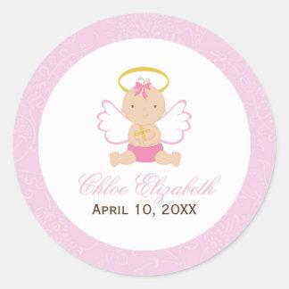 Sweet Baby Girl Baptism Stickers