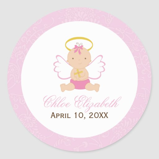 Sweet Baby Baptism Stickers