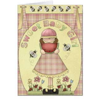 Sweet Baby Girl Birthday Greeting Greeting Card