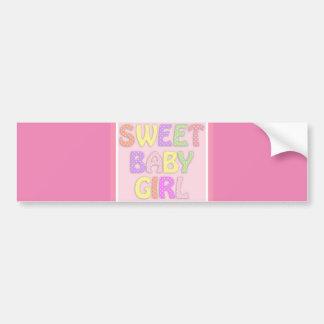 Sweet Baby Girl Bumper Sticker