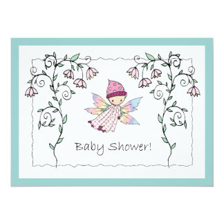 Sweet Baby Girl Fairy Baby Shower Invitations