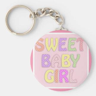 Sweet Baby Girl Keychain