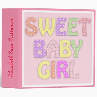 Sweet Baby Girl Personalized Photo Album 3 Ring Binders
