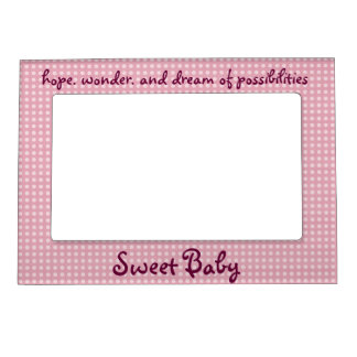 Sweet Baby Girl picture frame magnet