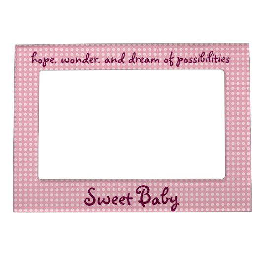 Sweet Baby Girl picture frame magnet | Zazzle.com