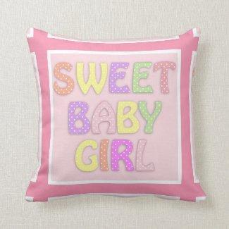 Sweet Baby Girl Pillow