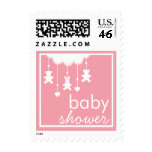 Sweet Baby Girl Pink Mobile Baby Shower Stamp