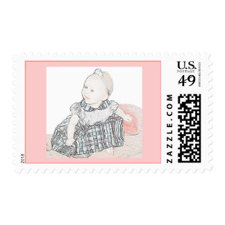 Sweet Baby Girl Stamp