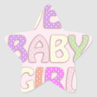 Sweet Baby Girl Star Sticker