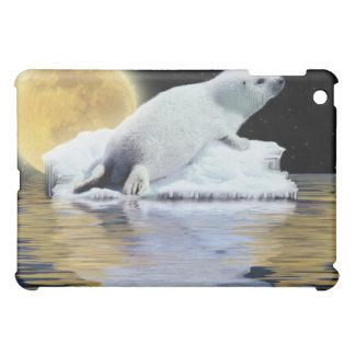 Sweet Baby Harp Seal & Full Moon iPad Case