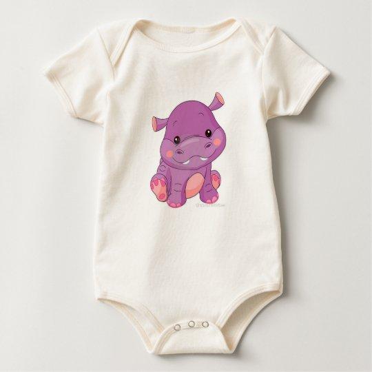 sweet baby hippo organic creeper