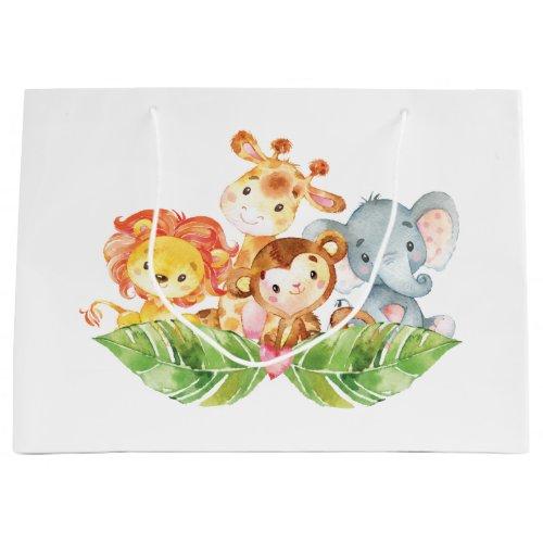 Sweet Baby Jungle Animals Large Gift Bag