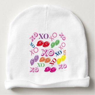 Sweet Baby Kiss Hug Personalized Newborn Girl Baby Beanie