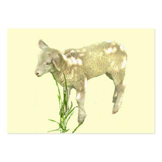 Sweet Baby Lamb on Yellow ATC Card