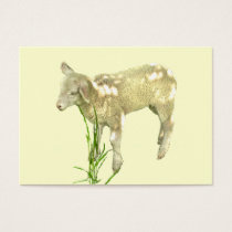 Sweet Baby Lamb on Yellow ATC Card