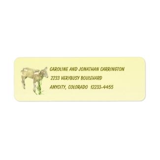 Sweet Baby Lamb on Yellow Return Address Label