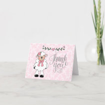 Sweet Baby Lamb Thank You Card