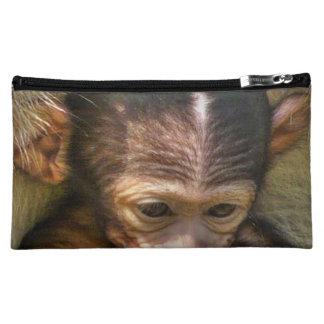 sweet baby monkey makeup bags