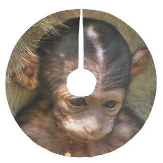 sweet baby monkey brushed polyester tree skirt