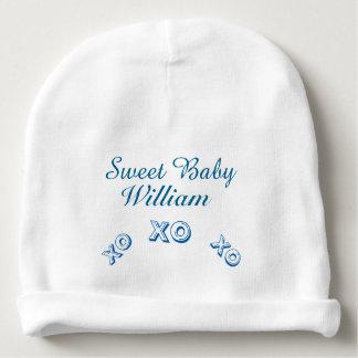 Sweet Baby Name Kiss Hug Newborn Boy Hat
