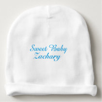 Sweet Baby Name Newborn Blue Baby Hat