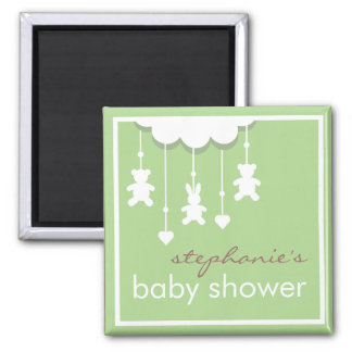 Sweet Baby Neutral Mobile Baby Shower Favor 2 Inch Square Magnet