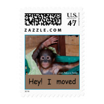 Sweet Baby Orangutan  Change of Address Postage