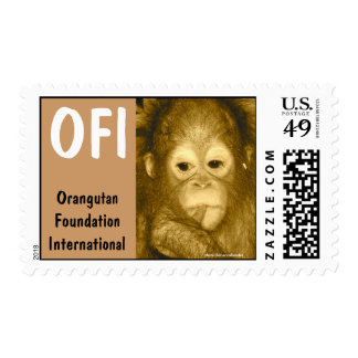 Sweet Baby Orangutan Foundation International Postage