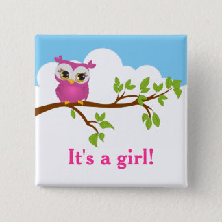 Sweet Baby Owl Baby Shower Button