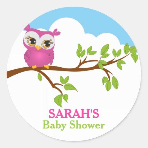 sweet baby owl baby shower sticker zazzle