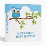 Sweet Baby Owl Boy Photo Album Binder Vinyl Binder