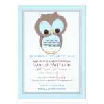 "Sweet Baby Owl Boy Whoo Baby Shower Invitation 5"" X 7"" Invitation Card"