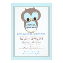 Owl baby shower invitations sweet baby owl boy whoo baby shower invitation filmwisefo