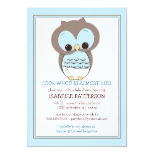 Owl baby shower invitations zazzle sweet baby owl boy whoo baby shower invitation filmwisefo