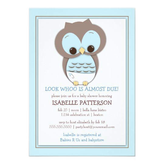 Sweet baby owl boy whoo baby shower invitation zazzle sweet baby owl boy whoo baby shower invitation filmwisefo