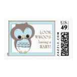 Sweet Baby Owl Boy Whoo Postage Stamp