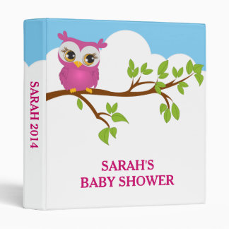 Sweet Baby Owl Girl Photo Album Binder