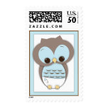 Sweet Baby Owl It's a Boy Baby Postage Stamp