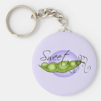 Sweet Baby Pea Basic Round Button Keychain