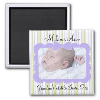 Sweet Baby Pea Photo 2 Inch Square Magnet